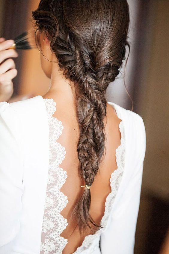 peinado con coleta para boda